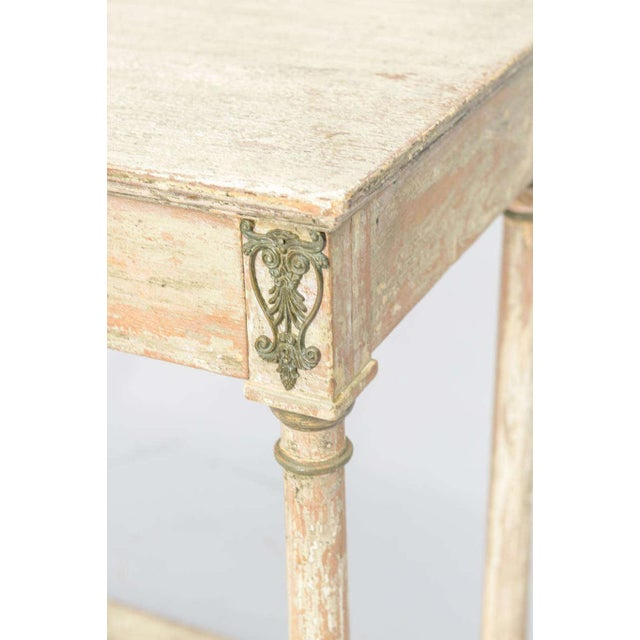 Gold Painted French Empire Console Table For Sale - Image 8 of 11