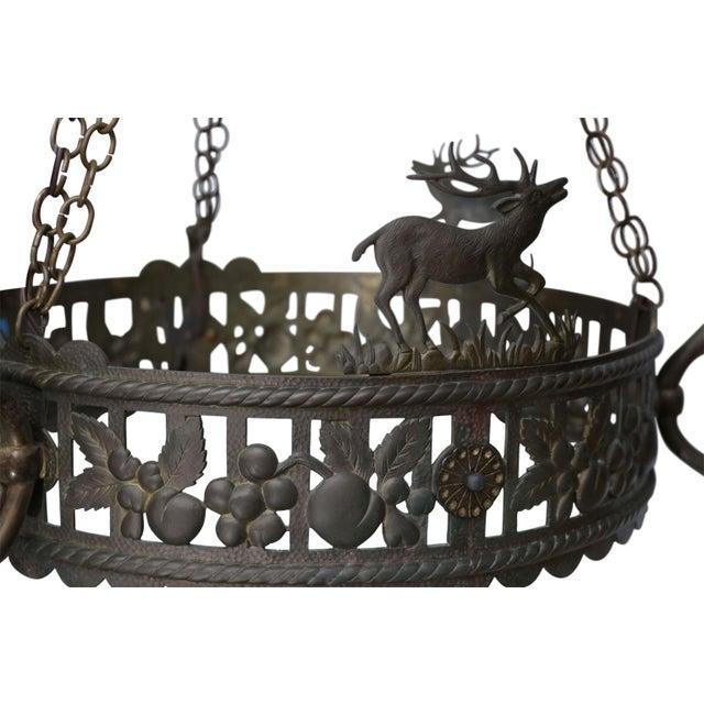 Brass Vintage Brass Hunt Chandelier For Sale - Image 8 of 13