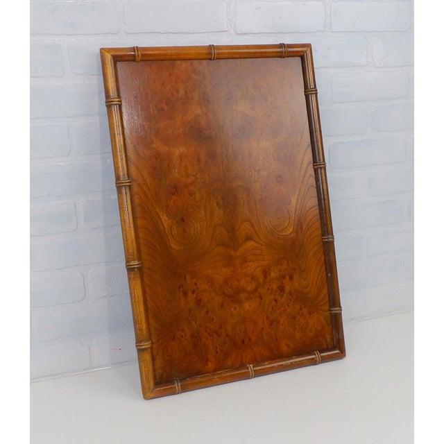 Vintage Burl Wood Walnut Serving Tray For Sale - Image 5 of 6