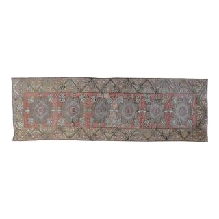 """Vintage Turkish Wool Oushak Runner - 4' x 11'9"""""""