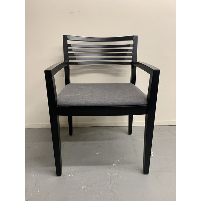 Charcoal 1990s Vintage Ricchio for Knoll Studios Chair For Sale - Image 8 of 13
