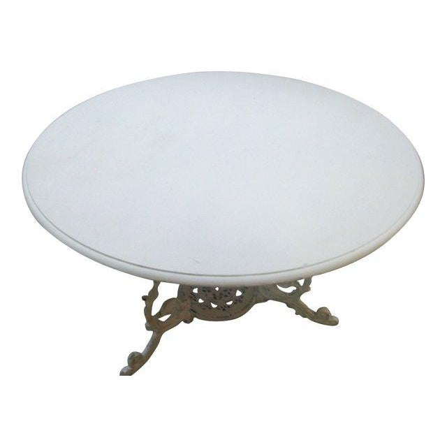 Scrolled Iron Base Table - Image 2 of 3