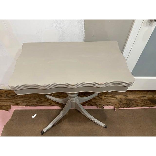 Vintage Traditional Flip Top Pedestal Table For Sale - Image 9 of 13