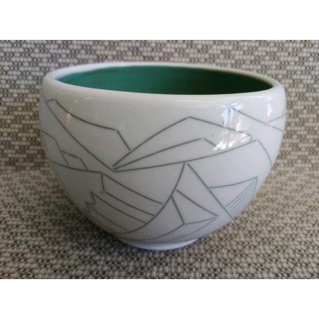 Daric Harvie Art Deco Cubist Style Bowl For Sale - Image 9 of 9