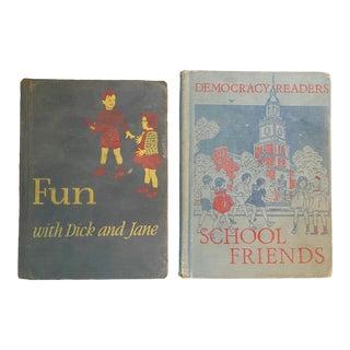 Antique 1940s School Books - Set of 2 For Sale