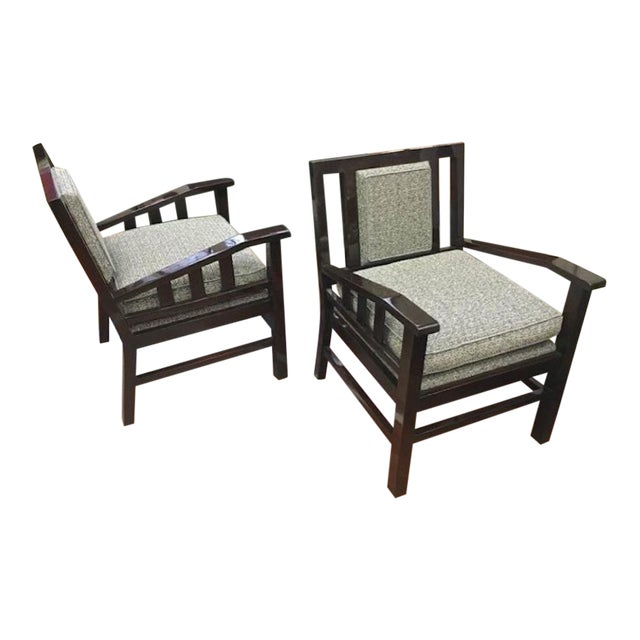 Francis Jourdain Pair of Modernist Lounge Chairs For Sale