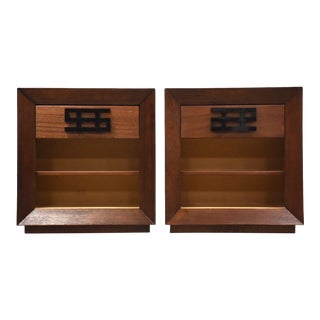 Maximilian for Karp Furniture Mahogany Nightstands - a Pair For Sale