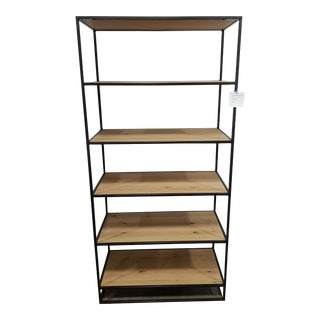 West Elm Industrial Open Bookcase For Sale