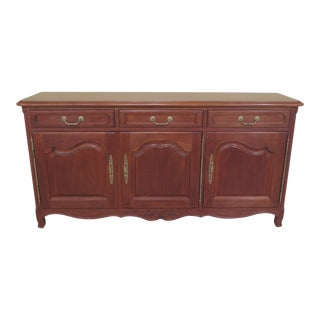 Stickley Country French Cherry Buffet Sideboard Server For Sale
