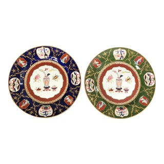Antique Ashworth Mason's Ironstone Imari Plates - A Pair For Sale