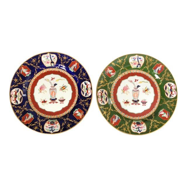Antique Ashworth Mason's Ironstone Imari Plates - A Pair For Sale