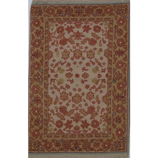 Turkish Oushak Design Hand Woven Wool Rug - 4' X 6' - Image 5 of 5
