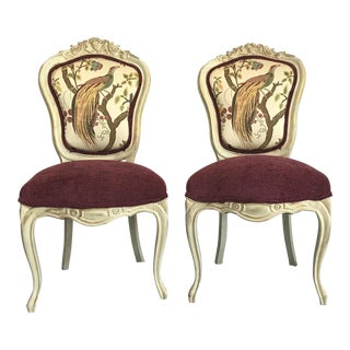 19th Century Louis XV Château d'Amboise Parcel Gilt Chairs - a Pair