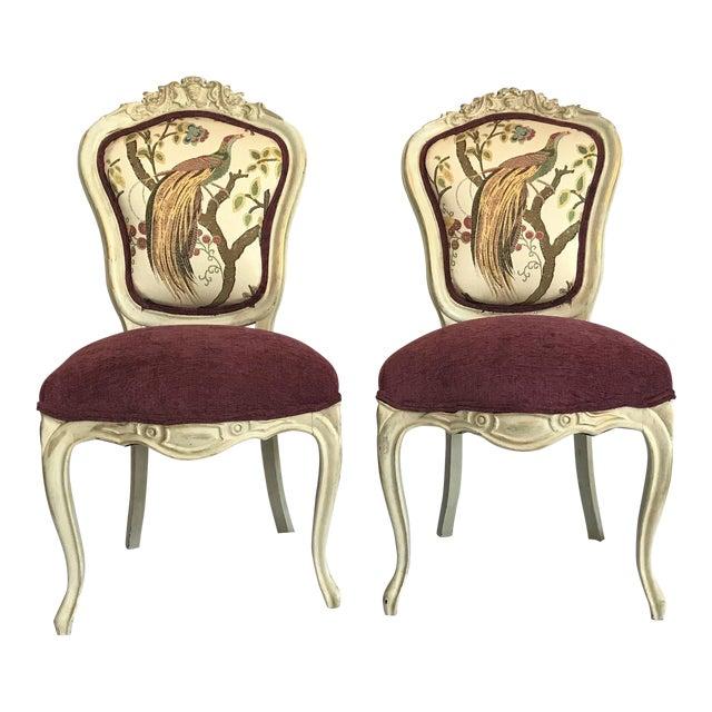 19th Century Louis XV Château d'Amboise Parcel Gilt Chairs - a Pair For Sale