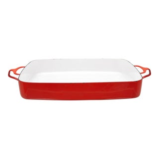 Dansk France Red Enamel Kobenstyle Large Baking Dish For Sale