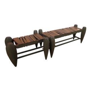 Custom-Made Modern Slat Bench