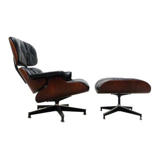 Early Eames Herman Miller Rosewood Lounge Chair & Ottoman