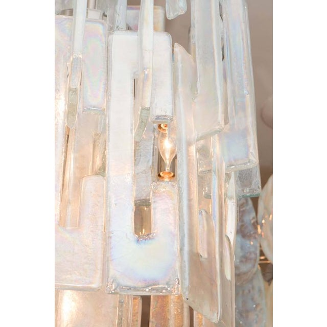 """2010s Iridescent """"C"""" Link Glass Chandelier For Sale - Image 5 of 6"""