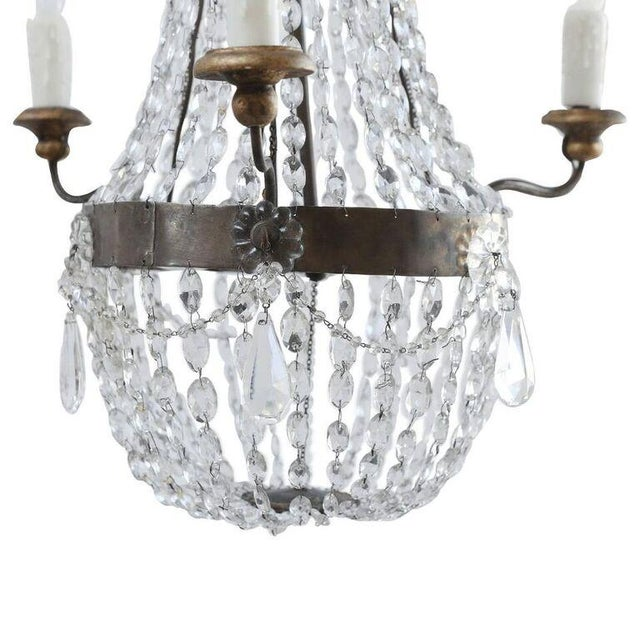 Petite Italian Crystal Chandelier For Sale In Houston - Image 6 of 10
