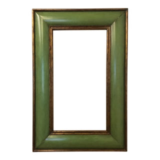 Convex Celadon Green and Gold Gilt Frame for Mirror For Sale