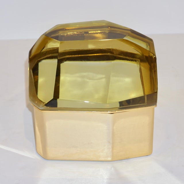 This item is customizable in glass colors and finishes. Italian contemporary organic glamorous casket, entirely...