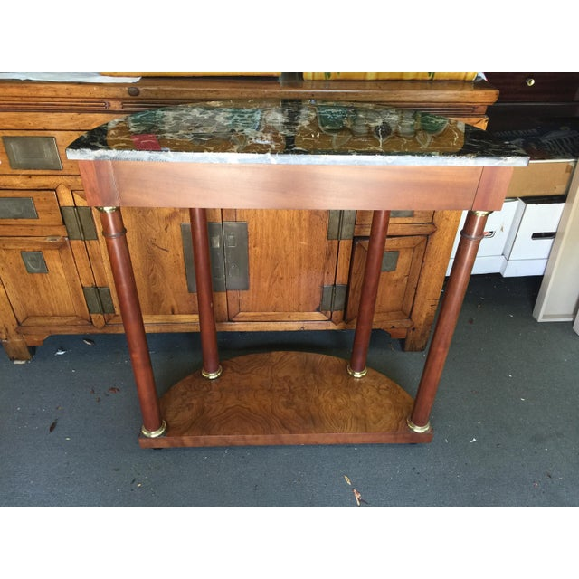 Baker Furniture Demilune Table For Sale In San Francisco - Image 6 of 8