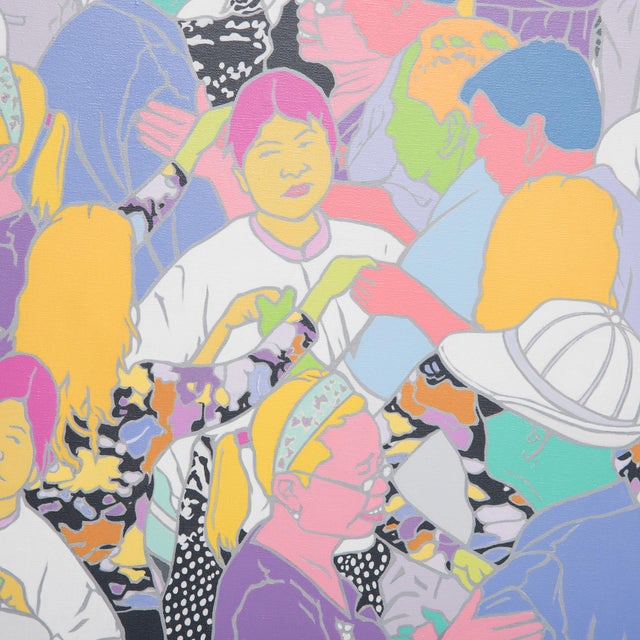 Inspired by the vibrant culture of China's public parks, Beijing artist Cui Qiang depicts daily moments through a painted...