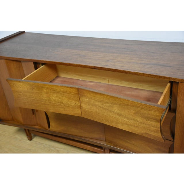 Mid-Century Sculpted Walnut Dresser - Image 11 of 11