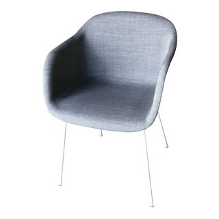 Muuto Gray Fabric Tube Base Fiber Armchair For Sale