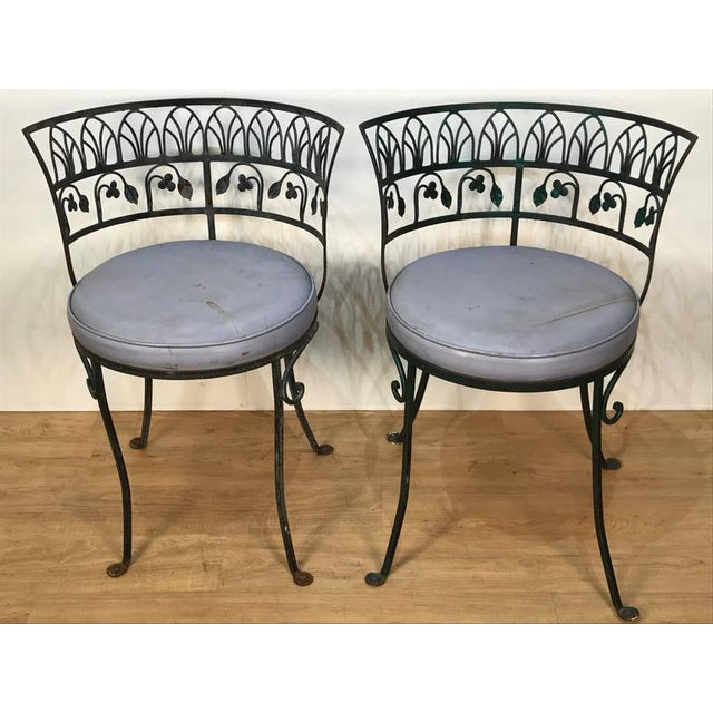 Pair of Grand Tour Style Salterini Garden Chairs, after the Greek Antique - Image 2 of 6