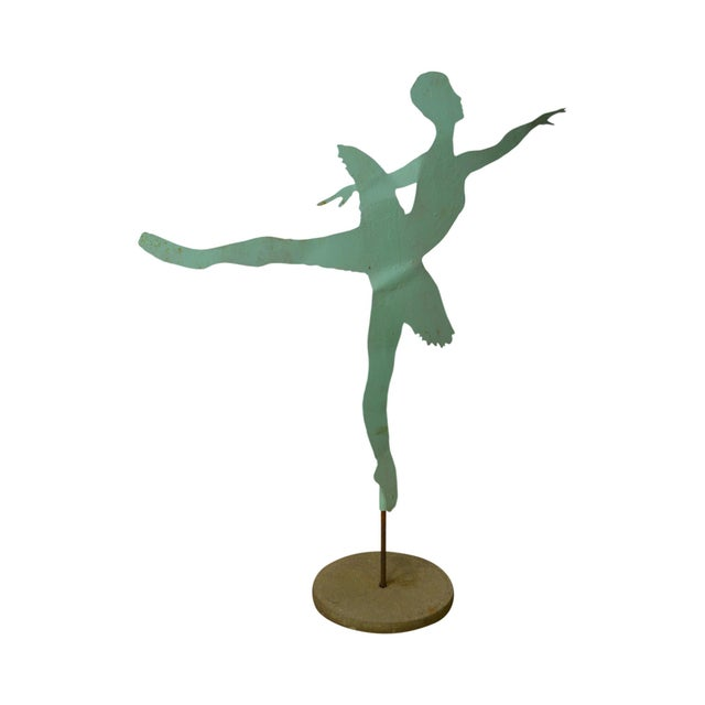 Mid Century Modern Large Dancing Ballerina Metal Garden Sculpture (B) For Sale - Image 11 of 11