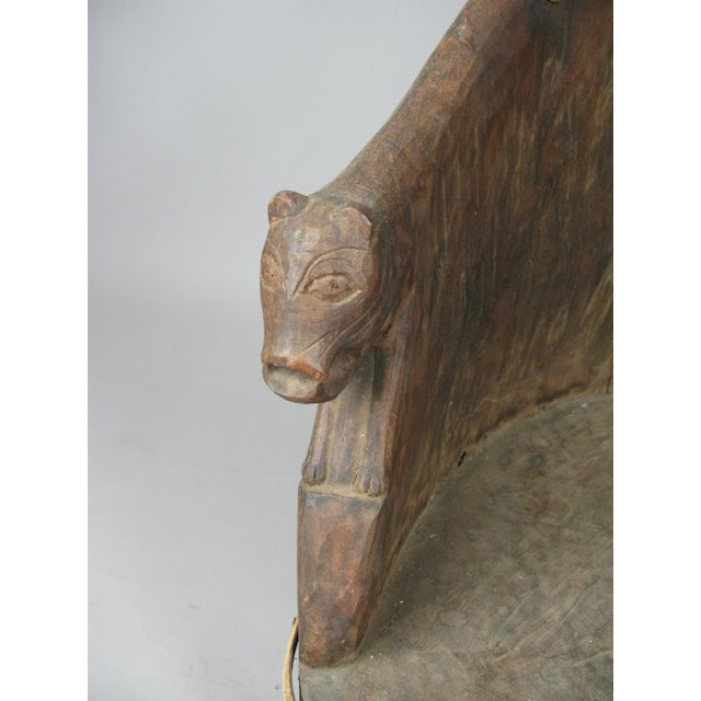 Early 20th Century Carved Chief's Chair From Nagaland, India For Sale - Image 5 of 9
