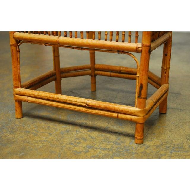 Bamboo Brighton Pavillion Style Armchair - Image 6 of 9