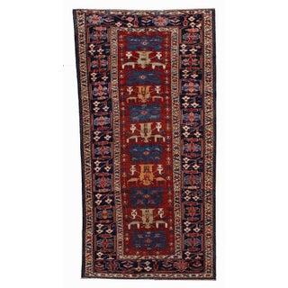 "1880s Antique Handmade Caucasian Shirvan Rug- 4'4"" X 8'9"" For Sale"