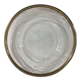 Crystal and Sterling Silver Service Plate