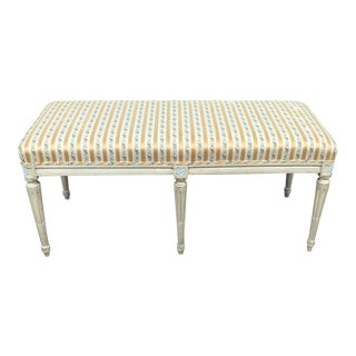 Lous XVI Style Upholstered Window Bench For Sale