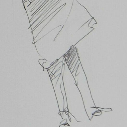 Contemporary Jose Trujillo Expressionist Modern Figure Contemporary Pen Ink Drawing on Paper For Sale - Image 3 of 4