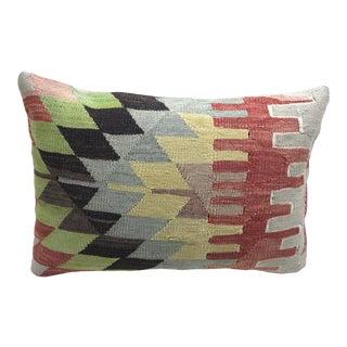 Turkish Handmade Kilim Rug Pillow Cover For Sale
