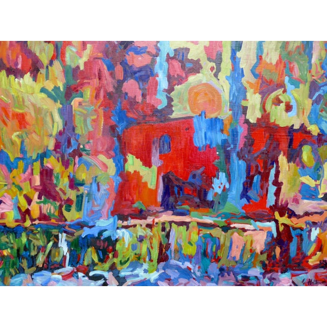 Monumental Abstract House Painting - Image 1 of 7