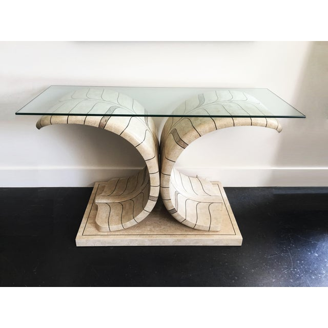 Sculptural Maitland Smith Tessellated Marble Console For Sale - Image 10 of 10