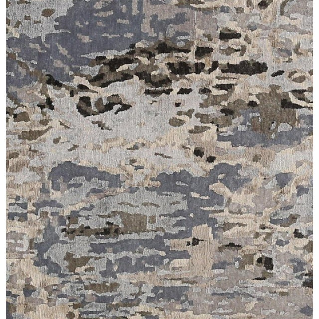 2000 - 2009 Modern Abstract Handwoven Rug - 8′11″ × 11′11″ -- 108733 For Sale - Image 5 of 6