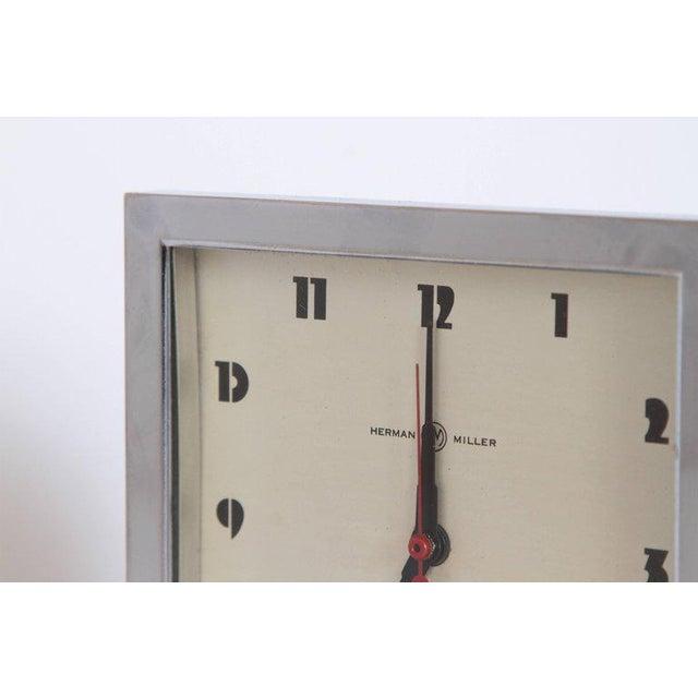 Machine Age Art Deco Gilbert Rohde for Herman Miller Original Working Clock For Sale - Image 9 of 11