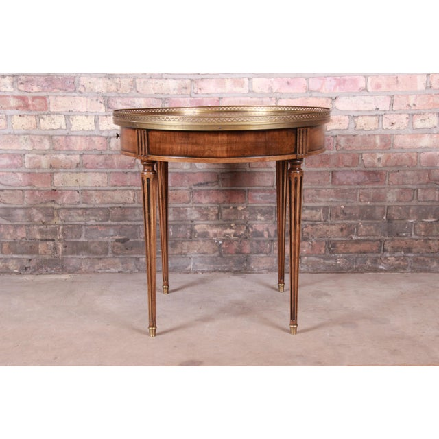 Baker Furniture French Regency Louis XVI Walnut Tea Table For Sale - Image 9 of 13