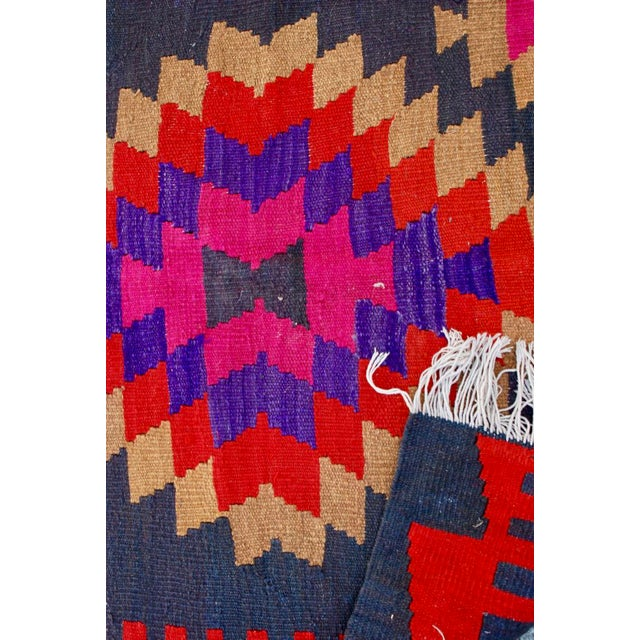 Vintage Handmade Persian Pink Kilim Rug - 3'10'' X 9'7 - Image 4 of 5