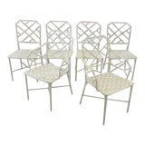 Image of Brown Jordan Calcutta Faux Bamboo Chairs- Set of 6 For Sale