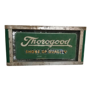 1930s Antique Deco Thorogood Boots Light Up Sign For Sale