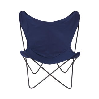 Vintage Mid Century Navy Butterfly Chair For Sale