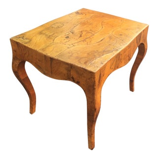 Spalted Elm End Table For Sale