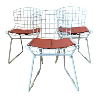 1950s Vintage Harry Bertoia for Knoll Child's Chairs - Set of 3 For Sale