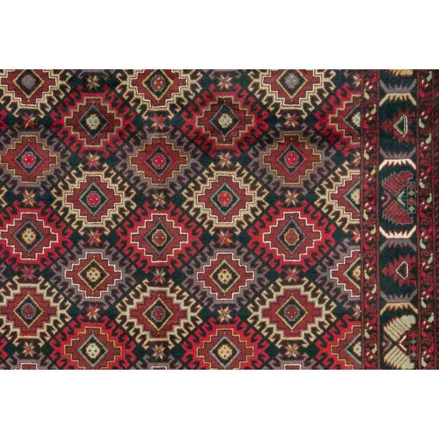 Boho Chic Pakistani Traditional Handwoven Rug - 6′6″ × 9′10″ For Sale - Image 3 of 4